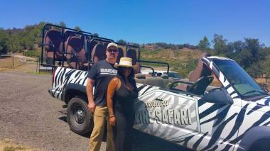 enjoying-safari-and-wine-tasting-on-a-malibu-wine-tour-with-an-LA-limo-service-provider-in-2016