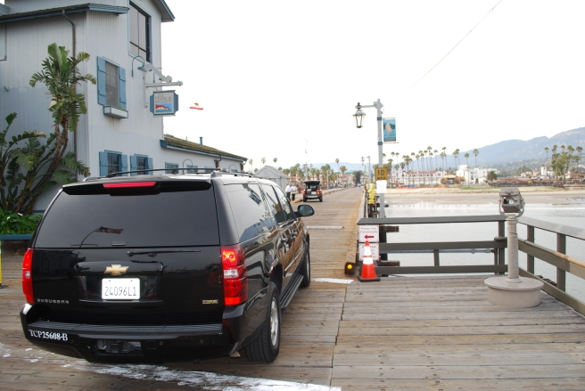 Santa Barbara limousine on Stearns Wharf in Santa Barbara